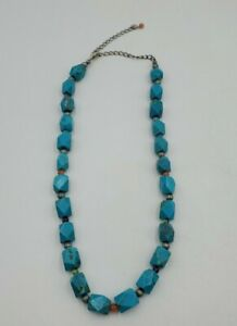 Southwestern Carolyn Pollack Relios Sterling 925 Turquoise Beaded Necklace 20""