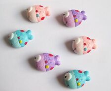6 big fish fridge, memo,decor strong magnets. Gift  idea.Stocking filler.