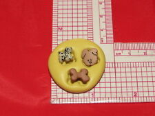 Tiny Bone Dogs Silicone Push Mold A30 For Fondant Resin Candy Craft Clay Sugar