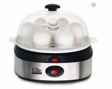 NEW Electric Stainless Steel Egg Cooker Rapid Go Automatic Eggs Poacher Boil
