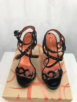 Via Spiga New Womens Pacifica Black Patent Leather Heels 6.5 M Shoes NWB