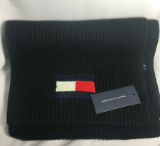 NWT Tommy Hilfiger SCARF Black Heavy Red Block White