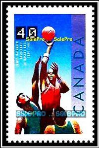 CANADA 1991 CANADIAN RDS TSN BASKETBALL JAMES NAISMITH FV FACE 40 CENT MNH STAMP