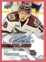 2018-19 Nick Robertson Upper Deck CHL Rookie Auto - Toronto Maple Leafs