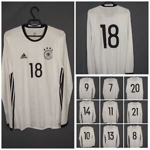 Germany authentic jersey Long Sleeve 2016 HOME MATCH ISSUE  Adidas Shirt Trikot