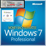 Windows 7 Professional 64 Bit Genuine COA Licence Key with Repair Disc CD DVD