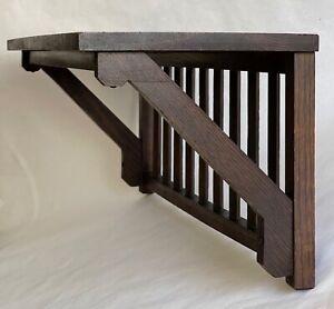 Antique Arts & Crafts Mission Oak Wood Shelf In The Manner of Stickley