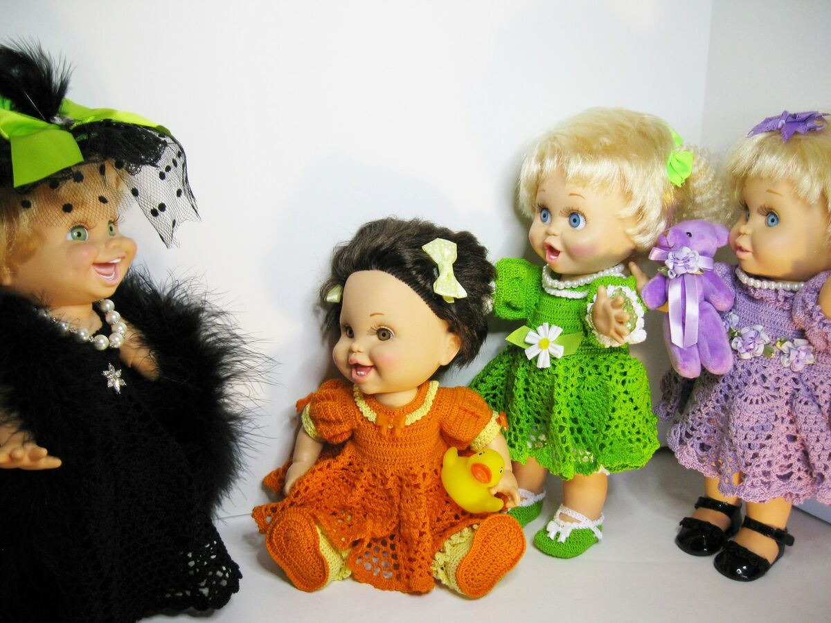 ToneyTreasures Crochet Doll Clothes