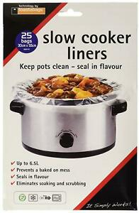 Toastabags Slow Cooker Liner, Transparent, Pack Of 25 Bags
