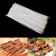 1 Set Kabob Skewers Stick Bamboo Grill BBQ Fruit Chocolate Shish Cook Fondue