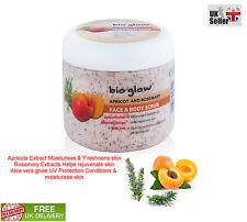 Bio Glow APRICOT ROSEMARY Face & Body Scrub Rejuvenate skin UV Protection 300ml
