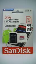 SanDisk Class 10 Ultra 16GB Micro SD SDHC Memory Card UHS-I With Adap Brand New