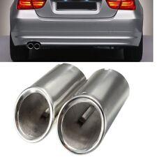 2 x tuyau d'échappement Chrome silencieux d'échappement embout pour BMW E90 E92
