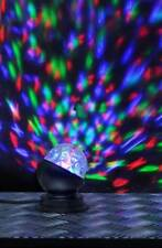 Disco Kugel mit Rotation LED in RGB-Farben Partybeleuchtung 9x10cm