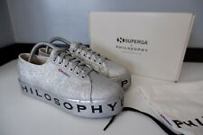 Philosophy Micro Glitter Sneakers, Shoes, Uk 6.5 Eu40, Silver, Immaculate