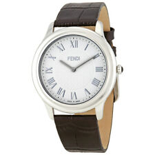 Fendi Classico White Dial Mens Leather Watch F250014011
