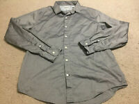 Timberland Mens Grey Gray Long Sleeve Button Slim Fit Shirt Size Large Genuine