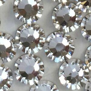 Swarovski nail art crystals 250 x SS10 clear diamond rhinestone diamante glue on