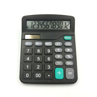 Solar Battery Desktop Calculator Basic 12-Digit Large Display Office Bus CL