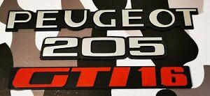 EX DISPLAY PEUGEOT 205 GTI16 REAR BADGE SET