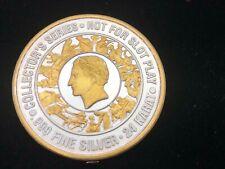 CAESARS PALACE: Atlantic City, NJ .999 FINE Silver/24K $40 Casino Token #2