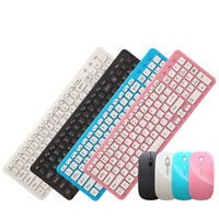 Wireless Keyboard and Mouse Set, 2.4G Slim Desktop Cordless Keyboard and Mouse