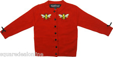 86224 Red Bee Mine Cardigan Cardigan Sweater Sourpuss Kid Children Girl (3T)