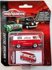 Majorette Deluxe Cars Series Volkswagen T1 Camper Van Red