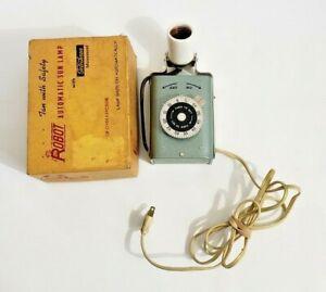 RARE Vintage Robot Automatic Sun Lamp With Telechron Movement  Model 10 - H