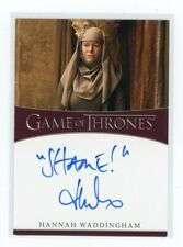 "Game of Thrones Season 8 Hannah Waddingham ""Shame!"" Inscription Autograph"