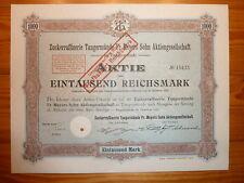 D: Zuckerraffinerie Tangermünde Fr. Meyers Sohn AG, Tangermünde, 1921, 1000 RM*