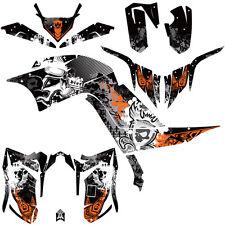 DFR FOLD GRAPHIC KIT BLACK/ORG SIDES/FENDERS 06-08 YAMAHA RAPTOR RAPTOR700 700