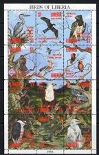 LIBERIA 1993 BIRDS OF LIBERIA SHEETLET MNH