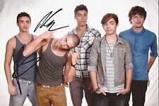 THE WANTED: MAX GEORGE & TOM PARKER SIGNED 10x8 PHOTO+COA *GLAD YOU CAME*