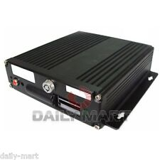 Realtime Dual SD Card Mobile Car Vehicle Mini CCTV 4CH DVR Recorder System Audio