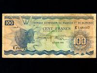 Rwanda Burundi:P-5,100 Francs,1960 * Zebu * RARE *