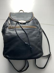 VTG Vintage  FANCY  Damen Rucksack Leder schwarz