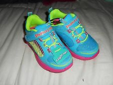 Girls Skechers Kites Twisty Kicks 10422N  Turquoise/Multi  Size 7 NWB