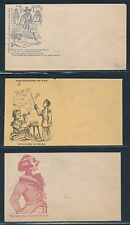 #CPT42 // 68 (7) DIFF. UNION CIVIL WAR PATRIOTIC COVERS (MINOR FLAWS) BR4763