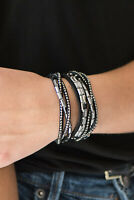 Paparazzi Jewelry Bracelet ~Grand Slam Shimmer - Black