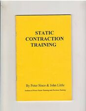 STATIC CONTRACTION TRAINING bodybuilding muscle book by Peter Sisco+John Little