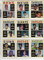 Lot of 9 Pastime Rookie Stars Aaron Mays Jackson Koufax Santo Bench & more