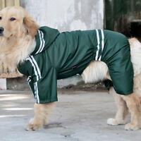 Waterproof Dog Hooded Raincoat Rain Coat Pet Jacket Puppy Clothes Coat Outwear