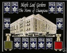 TORONTO MAPLE LEAF 11 STANLEY CUP 8X10 W/ MAPLE LEAF GARDENS GREEN-RED SEAT