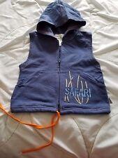 RUMBLE TUMBLE Boy's 3T Blue Safari Sleeveless 100% Cotton Hood Shirt