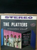 THE PLATTERS  Remember When? LP Vinyl record Mercury SR 60087 MONO