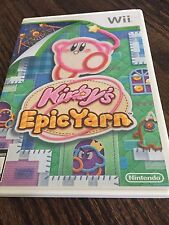 Kirby's Epic Yarn (Nintendo Wii, 2010) Complete NG6