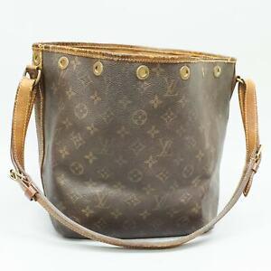 LOUIS VUITTON PETIT NOE Drawstring Shoulder Bag Purse Monogram M42226 Brown
