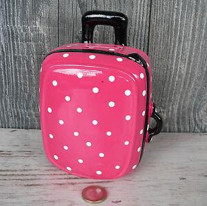 Spardose Koffer Trolley Keramik Reise Urlaub Gutschein Sparschwein Reisekasse