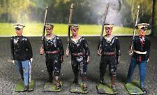 5-Vintage Britians Collectibles US 3 Navy Naval 2 Marines Figures Scene Diorama